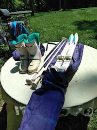 Skis poles and Boots size 24.5 Middletown, 21769