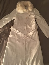 White fur-lined trench coat Peterborough