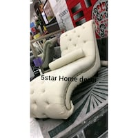white and black leather padded chair Bronx, 10467