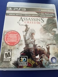 Assassin's Creed 3 PS3 game case Saint-Constant