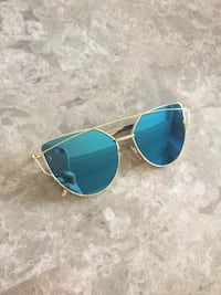 Blue mirrored sunglasses $5 Hamilton, L8J 0G7