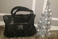 The very sought after, DISCONTINUED Coach Poppy Signature Sateen Glam Tote Toronto