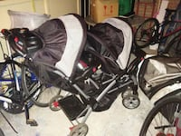 baby's black and gray stroller 546 km