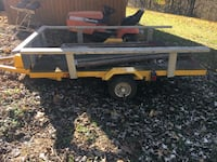 Homemade utility trailer.  38 km