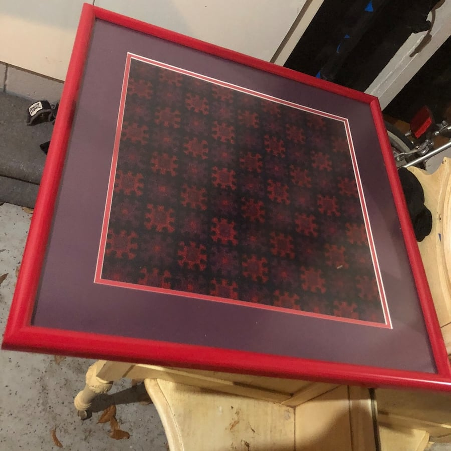 3  pictures of carpet from old trains in custom frames 2c4282c0-2c41-4b36-afdb-cea70d5c63fd