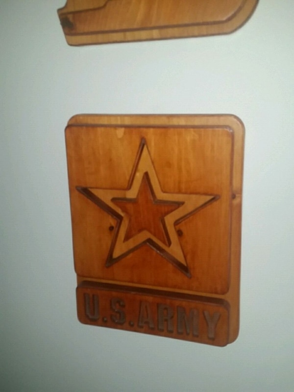 brown wooden framed wall decor