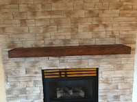 Wood stained mantel Laval, H7P 1Z7