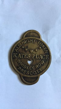 Frabicated coin from Big Nose Kate's brothel in Tombstone, AZ. She was friends with Doc Holiday and crew.  Woodbridge, 22192
