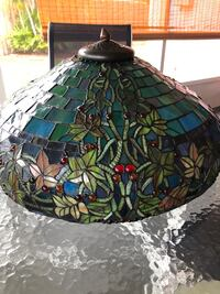 Stained glass chandelier Seminole, 33777