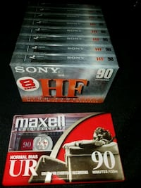 Sony 90 minute cassette blank tapes