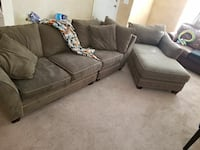 Sectional couch w/chaise lounge