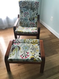 white and green padded puang chair with ottoman Fredericksburg, 22405