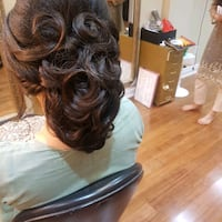 Updo $20 $40 book your party's  Vaughan