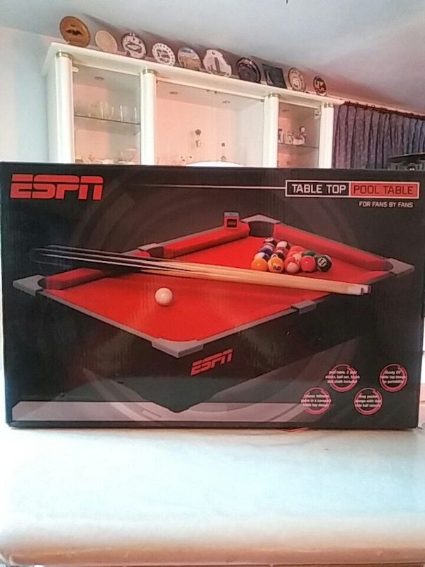 Used ESPN Table Top Pool Table For Sale In New York Letgo - Red top pool table
