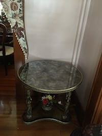 Round gold and black marble top table Hillside, 07205