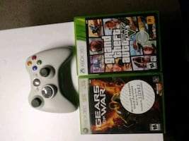 Xbox 360 game and controller