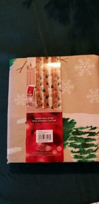 New Christmas/Winter Snowman Shower Curtain 41 mi