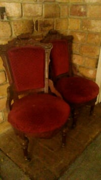 Twin Antique Mahogany Slipper Chairs   Ripon, 95366
