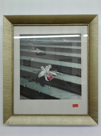 white hibiscus flower illustration with wooden frame 3809 km