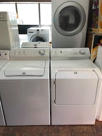 MAYTAG WASHER & ELECTRIC DRYER SET MATCHING WHITE - SERVICED - TESTED - CLEANED - WARRANTY 550 BURLINGTON