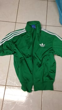 green and white Adidas zip-up jacket Toronto, M6M 3L2