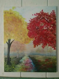 red and green trees painting Chardon, 44024