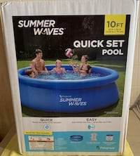 Swimming pool 10 foot above ground with filter pump kids