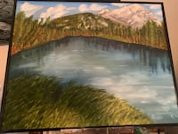 Banff oil painting