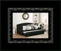 Daybed black with mattress Adelphi