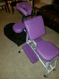 Purple portable massage table