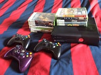 Xbox 360, 12 games, 3 controllers ( 1 is customized ) Kelowna, V1Y 4E9