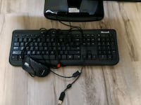 black corded computer keyboard and mouse Ottawa, K2B 6A1