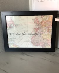 Embrace The Adventure Map Picture Frame