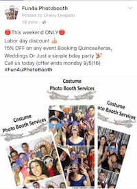 Costume photo booth services Sacramento, 95833
