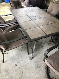 Patio set. 6 chairs