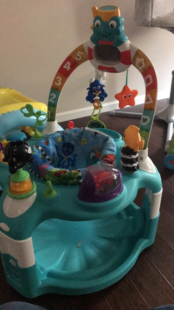 Used, baby's white and green activity center for sale  Menifee