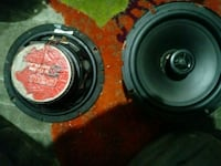 two black and red subwoofers Northglenn, 80233