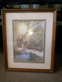 R.Adairs's Two Boys Fishing 1970's Home Interior Canton, 44703