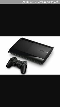 black Sony PlayStation 3 with 9 games no controllers