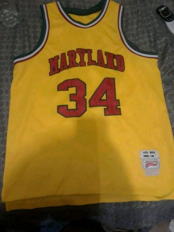 new products f3ff7 0a8d6 Len Bias Maryland Jersey Retro