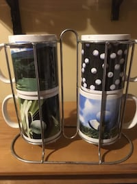 Golf coffee cups with holder  Endicott, 13760