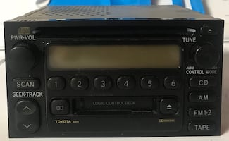 Toyota Sienna car radio,  CD, and cassette player. Like new.