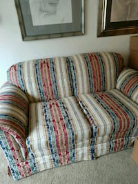 white, red, and blue fabric sofa chair Wickliffe, 44092
