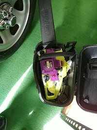 pink and yellow Poulan chainsaw with black case Forest Grove, 97116