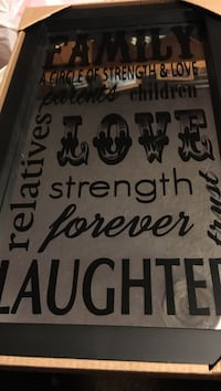 gray and black quote frame North Las Vegas, 89030