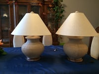 Two table lamps - dusty pink
