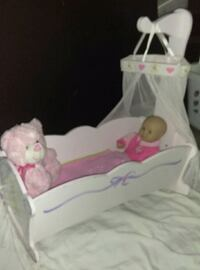 Baby doll wooden rocking cradle and baby doll Charlotte, 28212