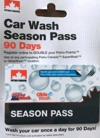 Petro Canada  car wash pass and cloning available