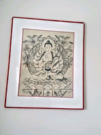 Buddha picture painted on silk