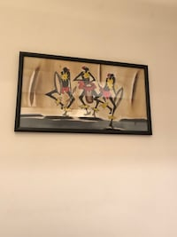 Authentic African ink on cloth picture of dancers